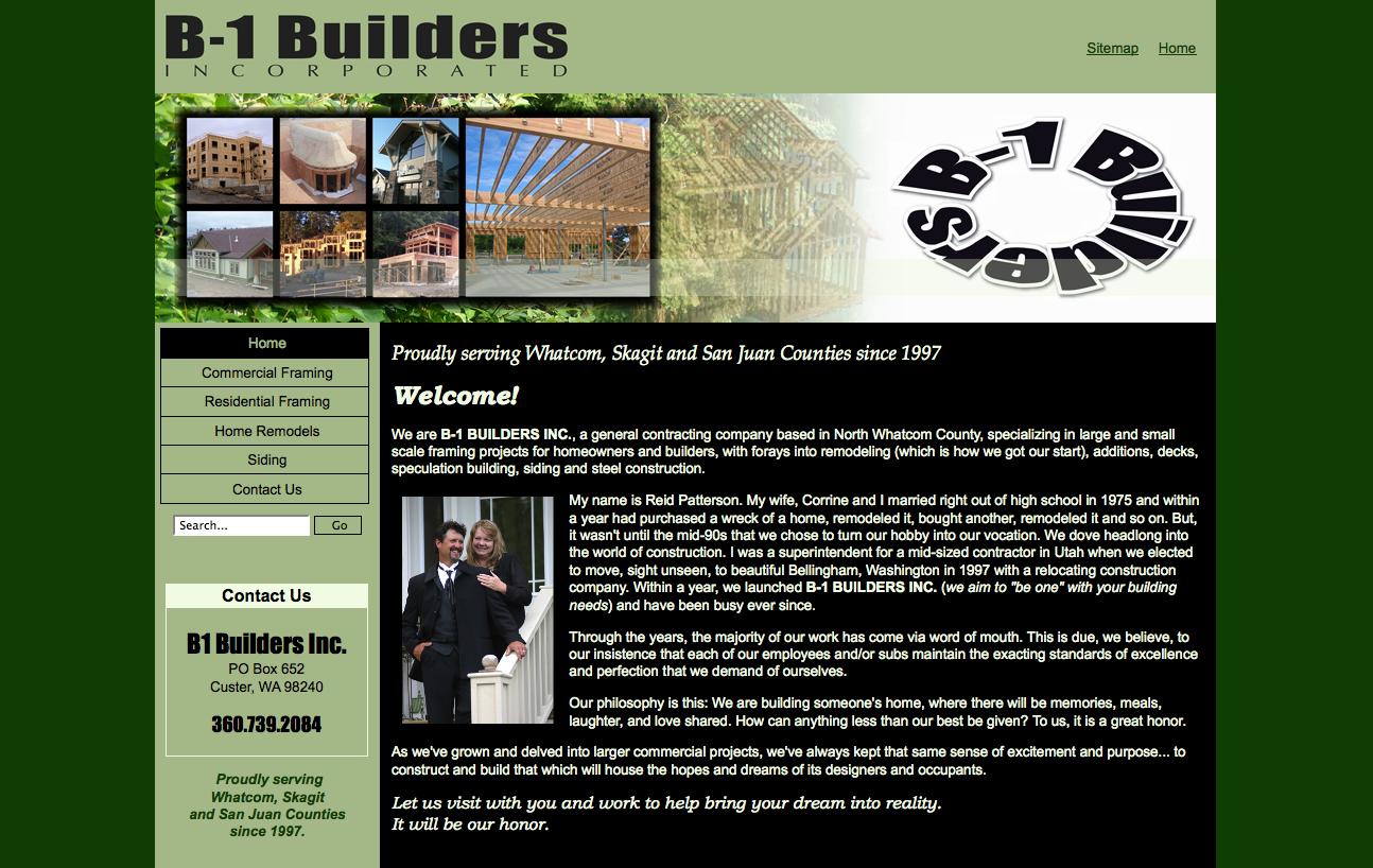 B1 Builders new website