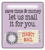 save time and money wiht direct mail services