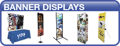 Banners and displays for outdoors